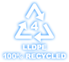 lldpe 100 % recycled